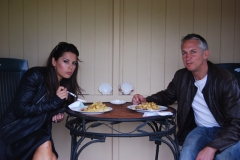 Gary and Danielle Lineker visit Grange Lodge